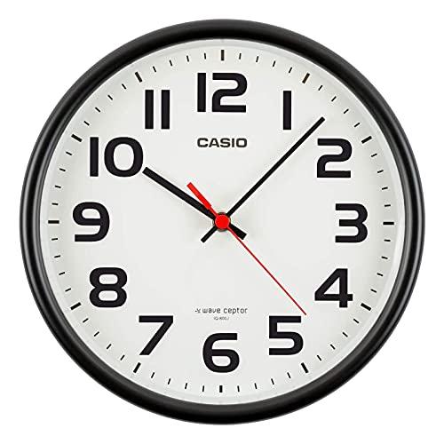 CASIO(カシオ) 掛け時計 電波 ブラック 直径21.6cm アナログ 置き掛け兼用 IQ-800J-1JF