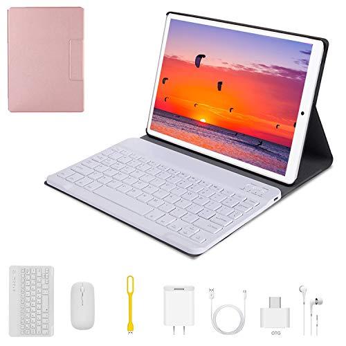 Tablet 10 Pulgadas 4G WiFi Android 9.0 Tablets 4+64GB/Expandido 128G 8 5MP Dual Cámara 4G Dual SIM Batería 8000mAh 4G Type-C Tablet con Mouse y Teclado