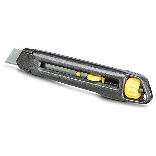 Stanley Interlock, 18 mm bladbreedte, 165 mm lemmetlengte, vervanging van het lemmet zonder gereedschap, metalen behuizing
