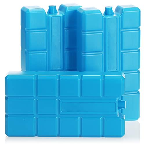com-four 3X Batería refrigerante XXL en Azul - Elementos de refrigeración para Nevera y Bolsa refrigerante - Baterías refrigerantes para el hogar y el Tiempo Libre