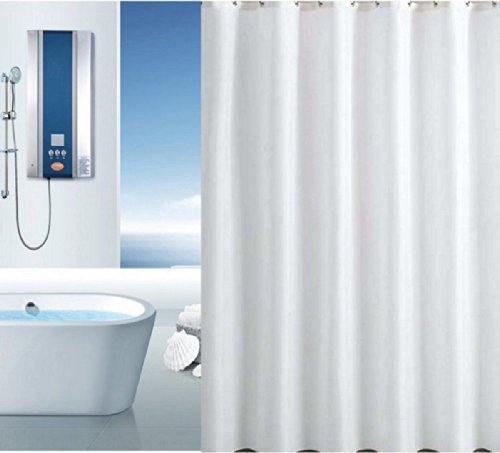 Blue Canyon Quality XL Large Extra Long Wide Ice White Polyester Shower Curtain (W 300cm x D 200cm) by Blue Canyon