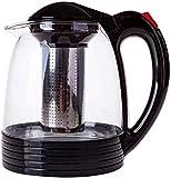 NCOEM Tetera Vintage para té a Granel Tetera de Hierro Fundido Tetera Suelta Hoja de té con Tetera de Vidrio incorporada en infusor y filte extraíble R  Accesorios de té de 2000 ml Taza de té