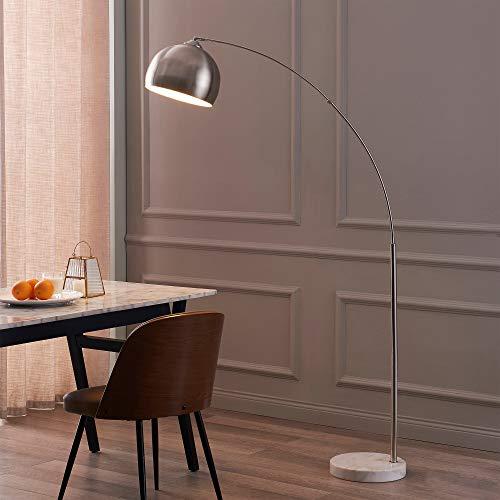 Versanora Floor Lamp, Metal, 40 W, Silver