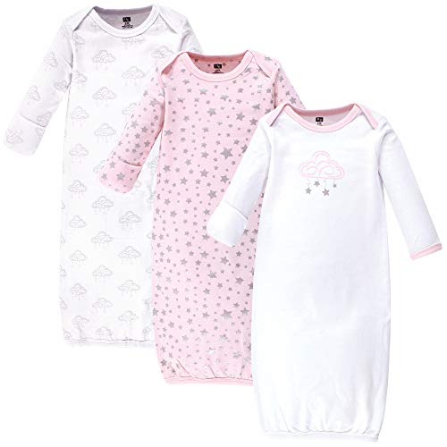 Hudson Baby Cotton Gowns Nightgown, Cloud Mobile Pink, 0-6 Months