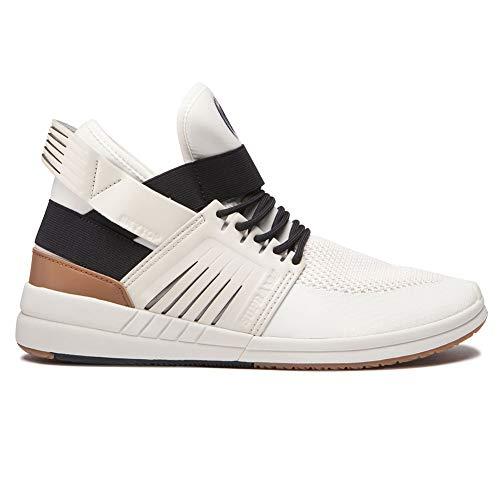 Supra Men's Skytop V Hi Top Sneaker Shoes Bone Black Bone White 13