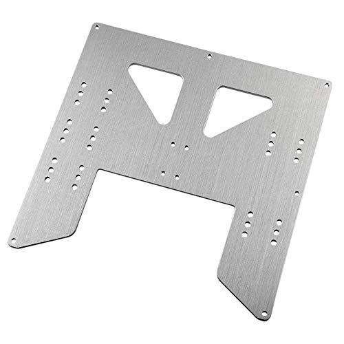 QOHFLD Accesorios de Impresora Placa de aleación de actualización Y-Carriage para Anet A8 A6 3D Printer Upgrade Y Carriage Placa de Aluminio anodizado Piezas de Impresora 3D