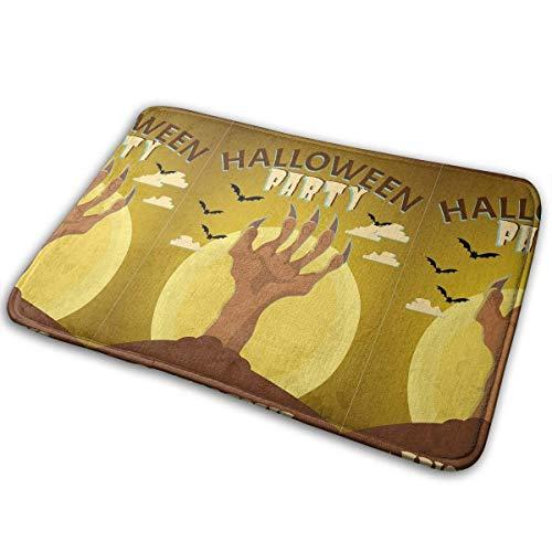 leyhjai Alfombra de Puerta Interior Happy Halloween Trick or Treat Alfombra de Entrada Alfombra de Bienvenida Alfombra de Cocina con Respaldo Antideslizante 15.7'X 23.5' MAT-1759