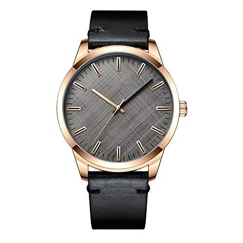 Eantpure Business Casual Reloj,Impermeable, Reloj de Cuarzo, Negocios, Moda, cinturón Reloj-D,Impermeable Elegante Relojes