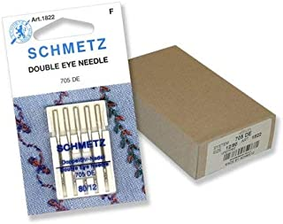 Schmetz Double-Eye Topstitch Sewing Machine Needles System 130/705 Size 80/12