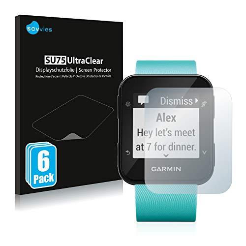 savvies Protector Pantalla Compatible con Garmin Forerunner 35/30 (6 Unidades) Pelicula Ultra Transparente