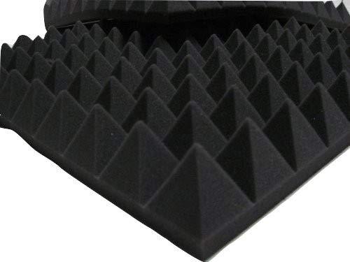 akustikschaumstoffpaneel mit Noppen, 49x 49x 6cm Farbe anthrazit Dichte 30