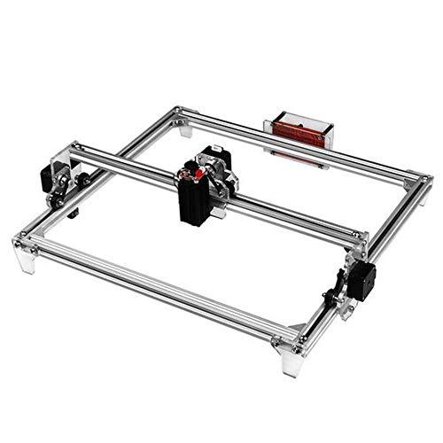 MEIDIAOKE 30 * 40cm Mini 2500 MW CNC Máquina de Grabado láser de Bricolaje 2Axis Grabador Router Escritorio de Madera/Cortador/Impresora láser + Gafas,Plata