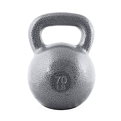 WF Athletic Supply Hammerstone Cast Iron Kettlebell - 13, 10-80 Pounds - Core Strength, Functional Fitness, and Weight Training Set - Free Weight, Equipment, Accessories (m. 70 LB) from WF Athletic Supply
