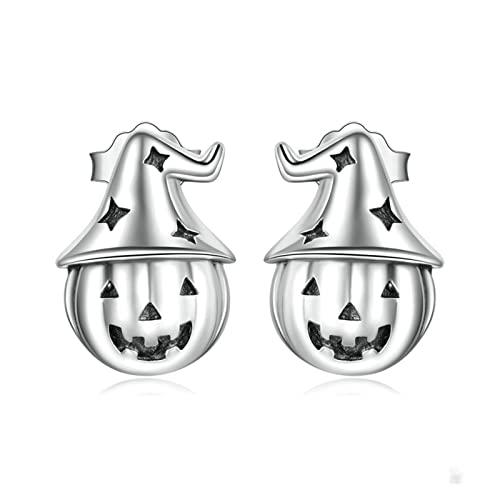 JUSTJUNMIN Pendientes niña Halloween Pumpkin Magic Hat Star Pendientes Damas Fiesta de la Fiesta Joyería