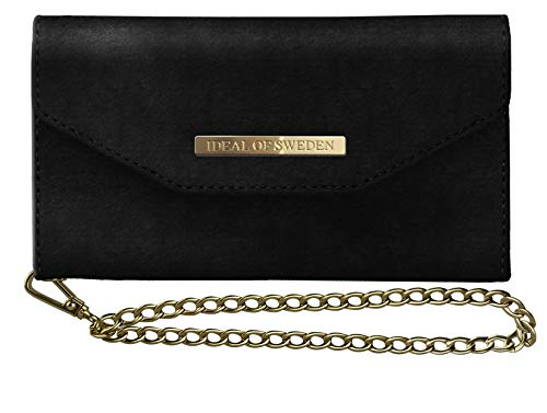 iDeal Of Sweden Mayfair Clutch Velvet für iPhone XR (Black)