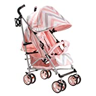 Suitable from birth to maximum 15kg Extendable 3 position canopy Lockable swivel front wheels Full recline (suitable from birth) Padded 5 point safety harness making this one of the safest little movers around