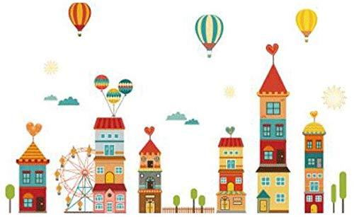 ZXL Grote kinderkamerslot, decoratie, wandsticker, schattige slaapkamer, kleuterschool, gang, zelfklevend behang, sticker, cartoon mooie kleur, om een warme kinderkamer (kleur: B