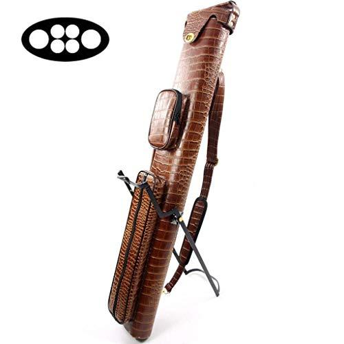 LWXTY 6 Foro 1/2 Comune Cue Case, con Tracolla e Pocket, Biliardo Stick Custodia Contiene 2 Butt e 4 Alberi,Brown