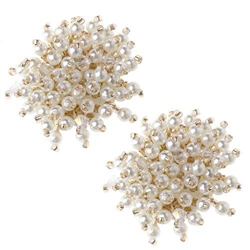 Xuebai 2pieces Shoe Decoration Pearl Clothes DIY High Heels Wedding Charms Rivet Fashion Shoe Decoration