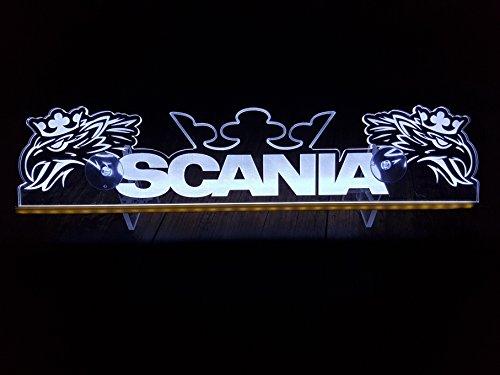 24?V LED Light Neon plaque pour Trucker Camion Blanc Eclairage plaque Table Couronne Eagle Cabine D?coration Accessoires grav? au laser 24?V/5?W