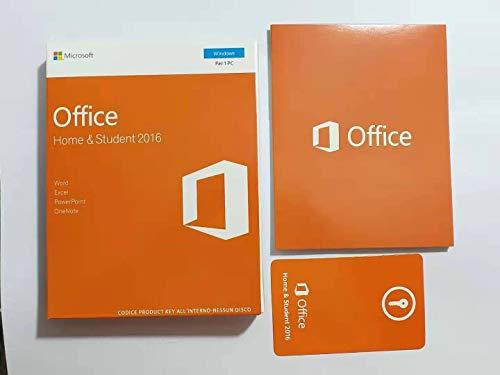Office 2016 | Home & Student | Versione interamente italiana (Windows 7, 8, 10)