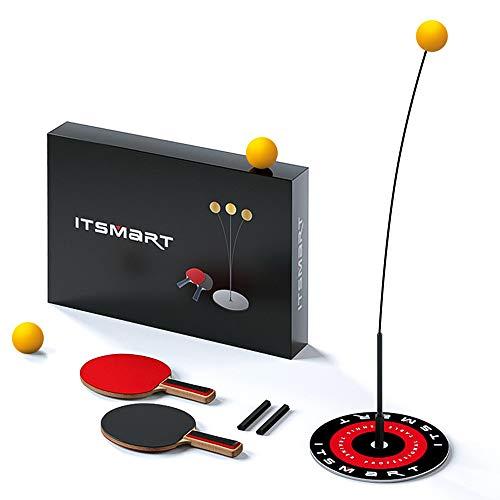 Tendlife Entrenador de Tenis de Mesa con Eje Blando elástico, 2 paletas 3 Pelotas, Base para Entrenamiento, Set de Ping Pong para Niños Juguetes de Entrenamiento, Juego al Aire Libre en Interiores