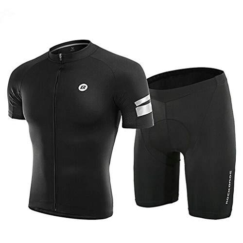 ROCKBROS Maillots Ciclismo Conjunto Camiseta y Pantalones Cortos con Acolchado 3D para Bicicleta MTB Deportes, Unisex