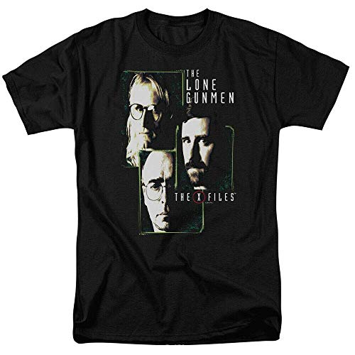 xinfeng The X-Files The Lone Gunmen Adult T-Shirt BlackL