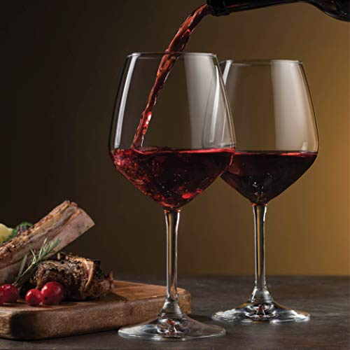 Italian Red Wine Glasses Set