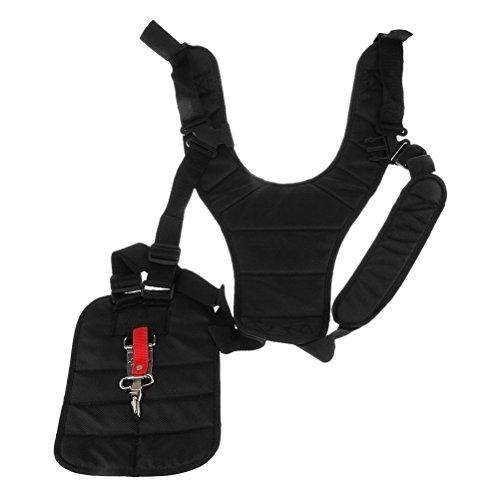 WINOMO cortador de cepillo cómodo arnés mochila correa de hombro para desbrozadora motosierra cortador de cepillo (negro)