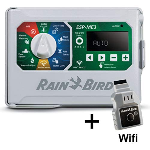 Rain-Bird Controller Indoor Outdoor Lawn Irrigation Sprinkler Timer ESPME3 (with WiFi)