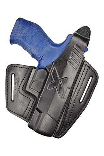 VlaMiTex B16 Black Leather Holster Fits Walther Creed
