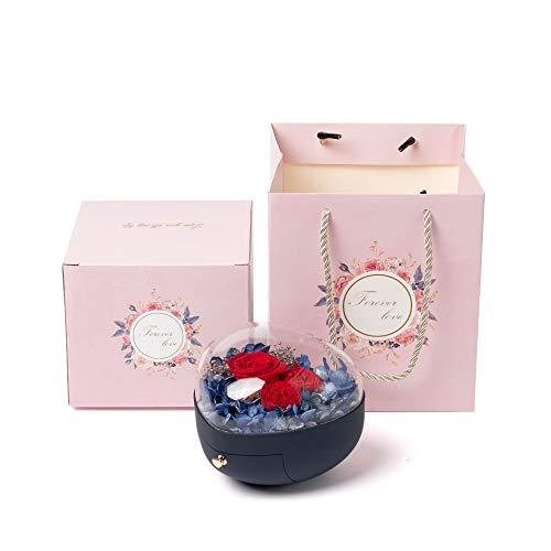 STB Romantische Valentinstags-Geschenkbox, Blumenkasten, beliebte herzförmige konservierte Blume, Geschenk-Box, Schmuckbox, rosa