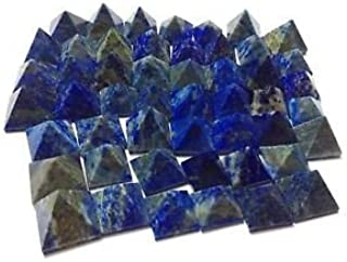CRYSTALMIRACLE Lot Of 9 Lapis Lazuli Loose mini Pyramids Crystal Healing Wellness Reiki Feng shui Bagua Powerful Meditation Throat chakra positive energy psychic ability Gemstone gift