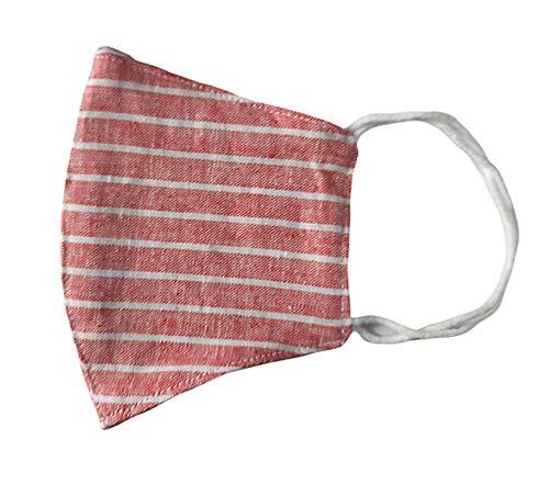 Torelle Mundmaske für Erwachsene aus 100% gewebter Baumwolle (2-lagig) waschbar, EU Produkt und Stoffe, Behelfsmaske, Gesichtsmaske, Stoffmaske, Mundbedeckung, Weiss-blau