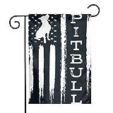 HU7 JDOS7 Proud Pitbull Dog American Flag Garden Flag House Banner for Party Yard Home Outdoor Decor