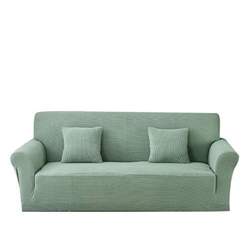 Carvapet Funda de sofá de Tela Jacquard de Punto elástico para Sala de Estar Protección de Muebles (2 plazas, Turquesa)