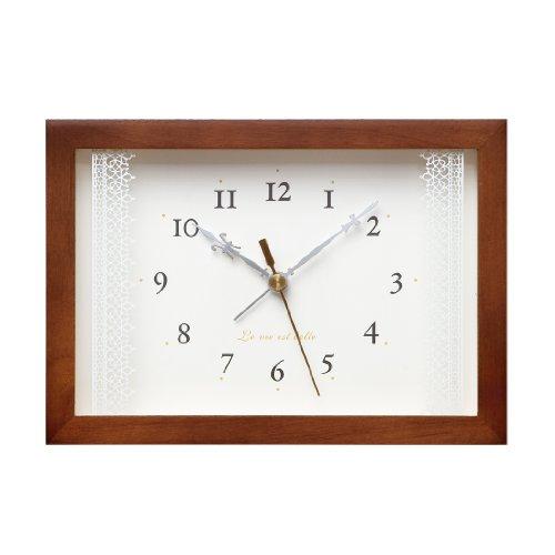Lacet ブラウン アラーム時計 PA06-21 BW