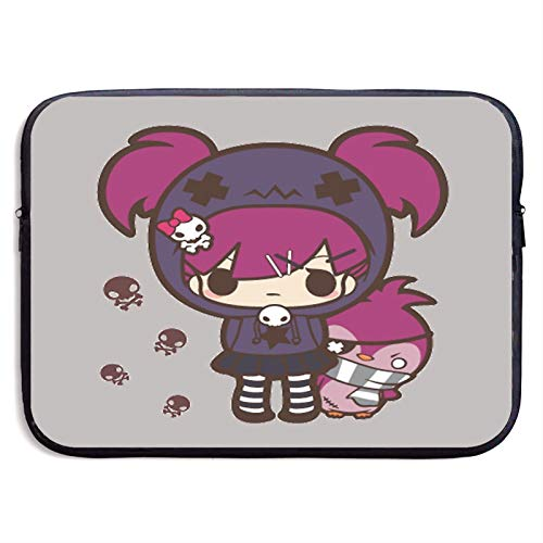 Pastel Goth Girl with Penguin Laptop Sleeve Case Compatible for 13 15 Inch MacBook Notebook Computer Tablet Protective Bag