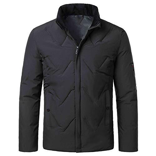 Yczx Mens Casual Slim Fit Stand Collar Thicken Windbreaker Jackets Cargo Outwear Sportswear Winter Retro Jacket Warm Coats with Pockets Autumn Jacket Outdoor Coats Outwear 3XL