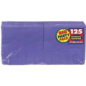 New Purple Beverage Paper Napkins Big Party Pack 125 Ct.