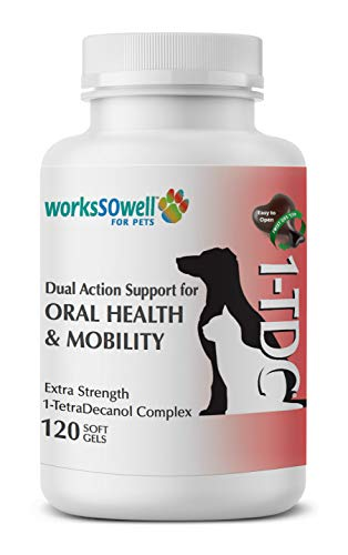 1TDC – Dual Action Natural Support – 120 Twist Off Soft Gels – Delivers 4 Major Health Benefits for Dogs & Cats – Oral Health, Hip & Joint Health, Muscle & Stamina Recovery, Skin & Coat Health