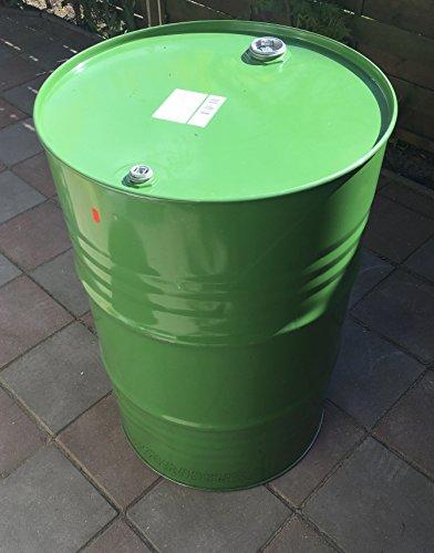 200 Liter Metallfass Spund grün innen lackiert Stahlfass Ölfass Feuertonne Behälter Tonne Blechfass Stehtisch