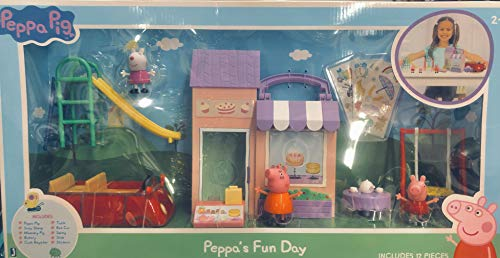 Peppa Pig Peppa's Fun Day Activity Figure Playset Includes 3 Figures and Peppa's Red Car!