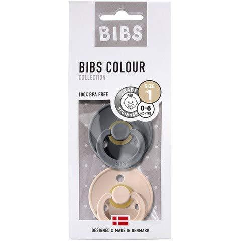 BIBS - Chupete, tamaño 1 rosa Hierro/Arbusto