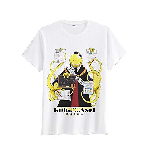 Assassination Classroom Camiseta Camiseta de algodón Casual de Tela Transpirable Preferred Manga Corta
