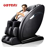 OOTORI Full Body Zero Gravity Massage Chair, SL-track, Roller Massage from Neck to Hip,3-Row-Footroller,Yoga Stretching,Back Heater and Speakers.(Black)