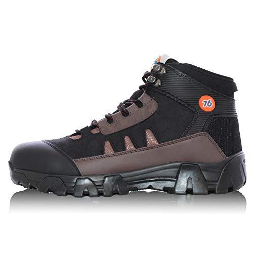 [ナナロク] トレッキングセーフティー/No.76-2004 防寒 安全靴 作業靴 冬用 (ブラック, measurement_26_point_0_centimeters)