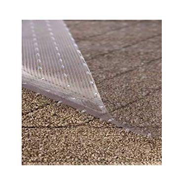 Resilia - Clear Vinyl Plastic Floor Runner/Protector for Low Pile Carpet - Non-Skid Decorative Pattern, (27 Inches Wide x 12 Feet Long)
