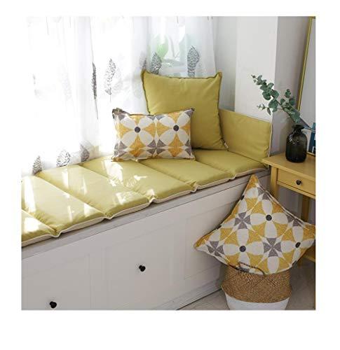Yanxinenjoy Eenvoudige kurkuma erker mat, vensterbank mat, machine wasbaar tatami kussen, anti-slip opvouwbaar